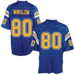 Authentic Kellen Winslow Men's Los Angeles Chargers Blue Mitchell And Ness Electric Throwback Jersey - Mitchell and Ness