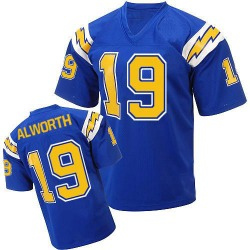 Authentic Lance Alworth Men's Los Angeles Chargers Blue Mitchell And Ness Electric 1984 Throwback Jersey - Mitchell and Ness
