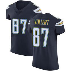 Elite Andrew Vollert Men's Los Angeles Chargers Navy Blue Team Color Vapor Untouchable Jersey - Nike
