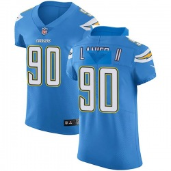 Elite Anthony Lanier II Men's Los Angeles Chargers Blue Alternate Vapor Untouchable Jersey - Nike