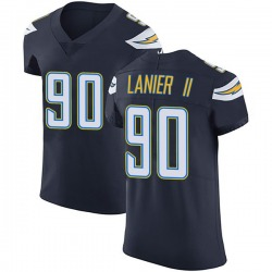 Elite Anthony Lanier II Men's Los Angeles Chargers Navy Blue Team Color Vapor Untouchable Jersey - Nike
