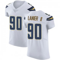 Elite Anthony Lanier II Men's Los Angeles Chargers White Vapor Untouchable Jersey - Nike