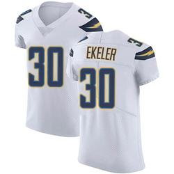 Elite Austin Ekeler Men's Los Angeles Chargers White Vapor Untouchable Jersey - Nike