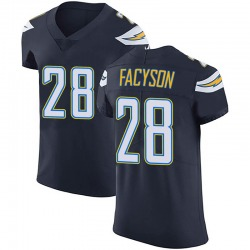 Elite Brandon Facyson Men's Los Angeles Chargers Navy Blue Team Color Vapor Untouchable Jersey - Nike