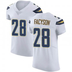 Elite Brandon Facyson Men's Los Angeles Chargers White Vapor Untouchable Jersey - Nike