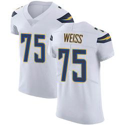 Elite Brant Weiss Men's Los Angeles Chargers White Vapor Untouchable Jersey - Nike
