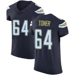 Elite Cole Toner Men's Los Angeles Chargers Navy Blue Team Color Vapor Untouchable Jersey - Nike