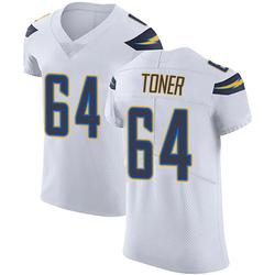 Elite Cole Toner Men's Los Angeles Chargers White Vapor Untouchable Jersey - Nike