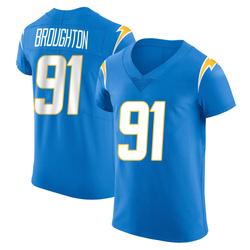 Elite Cortez Broughton Men's Los Angeles Chargers Blue Alternate Vapor Untouchable Jersey - Nike
