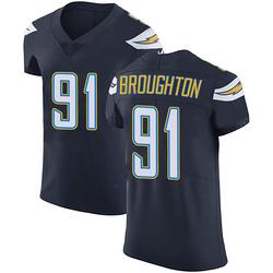 Elite Cortez Broughton Men's Los Angeles Chargers Navy Blue Team Color Vapor Untouchable Jersey - Nike