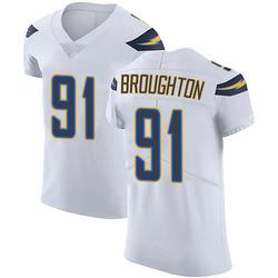 Elite Cortez Broughton Men's Los Angeles Chargers White Vapor Untouchable Jersey - Nike