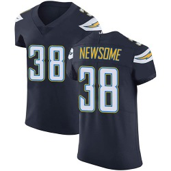 Elite Detrez Newsome Men's Los Angeles Chargers Navy Blue Team Color Vapor Untouchable Jersey - Nike