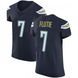 Elite Doug Flutie Men's Los Angeles Chargers Navy Blue Team Color Vapor Untouchable Jersey - Nike