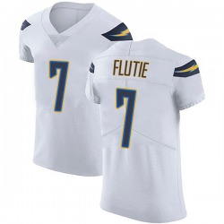 Elite Doug Flutie Men's Los Angeles Chargers White Vapor Untouchable Jersey - Nike