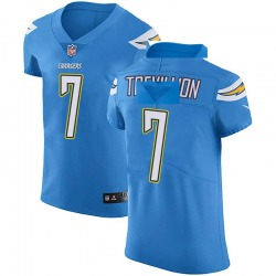 Elite Fred Trevillion Men's Los Angeles Chargers Blue Alternate Vapor Untouchable Jersey - Nike