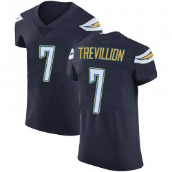 Elite Fred Trevillion Men's Los Angeles Chargers Navy Blue Team Color Vapor Untouchable Jersey - Nike