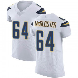 Elite Jamar McGloster Men's Los Angeles Chargers White Vapor Untouchable Jersey - Nike