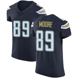 Elite Jason Moore Men's Los Angeles Chargers Navy Blue Team Color Vapor Untouchable Jersey - Nike