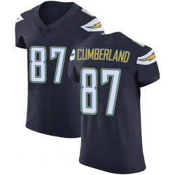 Elite Jeff Cumberland Men's Los Angeles Chargers Navy Blue Team Color Vapor Untouchable Jersey - Nike