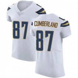 Elite Jeff Cumberland Men's Los Angeles Chargers White Vapor Untouchable Jersey - Nike