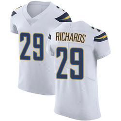 Elite Jeff Richards Men's Los Angeles Chargers White Vapor Untouchable Jersey - Nike