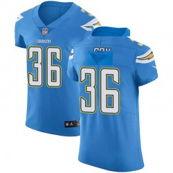Elite Jeremy Cox Men's Los Angeles Chargers Blue Alternate Vapor Untouchable Jersey - Nike