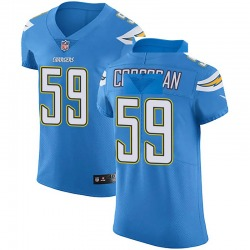 Elite Josh Corcoran Men's Los Angeles Chargers Blue Alternate Vapor Untouchable Jersey - Nike
