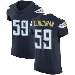 Elite Josh Corcoran Men's Los Angeles Chargers Navy Blue Team Color Vapor Untouchable Jersey - Nike