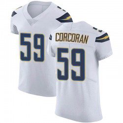Elite Josh Corcoran Men's Los Angeles Chargers White Vapor Untouchable Jersey - Nike