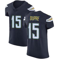 Elite Malachi Dupre Men's Los Angeles Chargers Navy Blue Team Color Vapor Untouchable Jersey - Nike