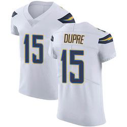 Elite Malachi Dupre Men's Los Angeles Chargers White Vapor Untouchable Jersey - Nike