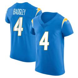 Elite Mike Badgley Men's Los Angeles Chargers Blue Alternate Vapor Untouchable Jersey - Nike