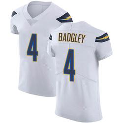 Elite Mike Badgley Men's Los Angeles Chargers White Vapor Untouchable Jersey - Nike