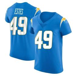 Elite Mike Estes Men's Los Angeles Chargers Blue Alternate Vapor Untouchable Jersey - Nike