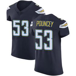 Elite Mike Pouncey Men's Los Angeles Chargers Navy Blue Team Color Vapor Untouchable Jersey - Nike