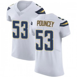 Elite Mike Pouncey Men's Los Angeles Chargers White Vapor Untouchable Jersey - Nike