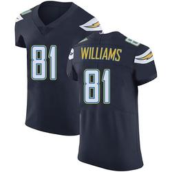 Elite Mike Williams Men's Los Angeles Chargers Navy Blue Team Color Vapor Untouchable Jersey - Nike