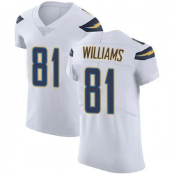 Elite Mike Williams Men's Los Angeles Chargers White Vapor Untouchable Jersey - Nike