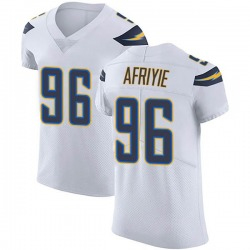Elite Patrick Afriyie Men's Los Angeles Chargers White Vapor Untouchable Jersey - Nike