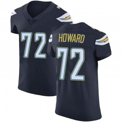 Elite Reggie Howard Men's Los Angeles Chargers Navy Blue Team Color Vapor Untouchable Jersey - Nike