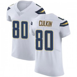 Elite Sean Culkin Men's Los Angeles Chargers White Vapor Untouchable Jersey - Nike
