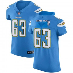 Elite Tanner Volson Men's Los Angeles Chargers Blue Alternate Vapor Untouchable Jersey - Nike