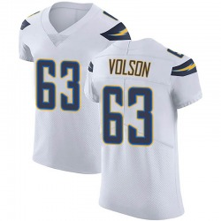 Elite Tanner Volson Men's Los Angeles Chargers White Vapor Untouchable Jersey - Nike
