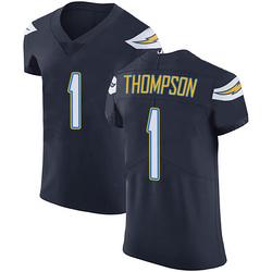 Elite Trevion Thompson Men's Los Angeles Chargers Navy Blue Team Color Vapor Untouchable Jersey - Nike