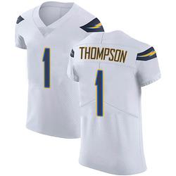 Elite Trevion Thompson Men's Los Angeles Chargers White Vapor Untouchable Jersey - Nike