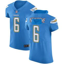 Elite Tyler Newsome Men's Los Angeles Chargers Blue Alternate Vapor Untouchable Jersey - Nike