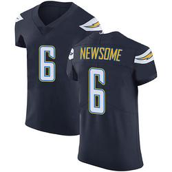 Elite Tyler Newsome Men's Los Angeles Chargers Navy Blue Team Color Vapor Untouchable Jersey - Nike