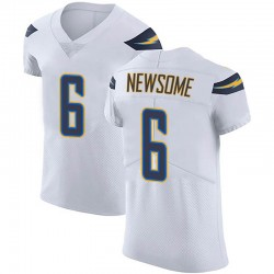 Elite Tyler Newsome Men's Los Angeles Chargers White Vapor Untouchable Jersey - Nike