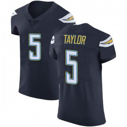 Elite Tyrod Taylor Men's Los Angeles Chargers Navy Blue Team Color Vapor Untouchable Jersey - Nike