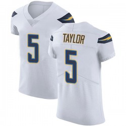 Elite Tyrod Taylor Men's Los Angeles Chargers White Vapor Untouchable Jersey - Nike